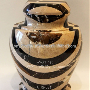 Marble Mosaic Funeral Urn for Exports in cheap price