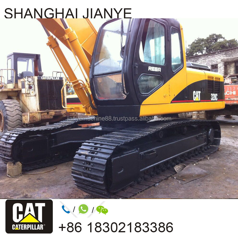 Used Cat Caterpillar 320C 320D 320CL Hydraulic Crawler Excavator in a Good Condition