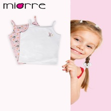 MIORRE OEM NEW 2017 KID'S GIRL TOPS & T-SHIRTS COLLECTION FLORAL PATTERNED UNDERSHIRT CAMI TANK TOP & UNDERWEAR SET