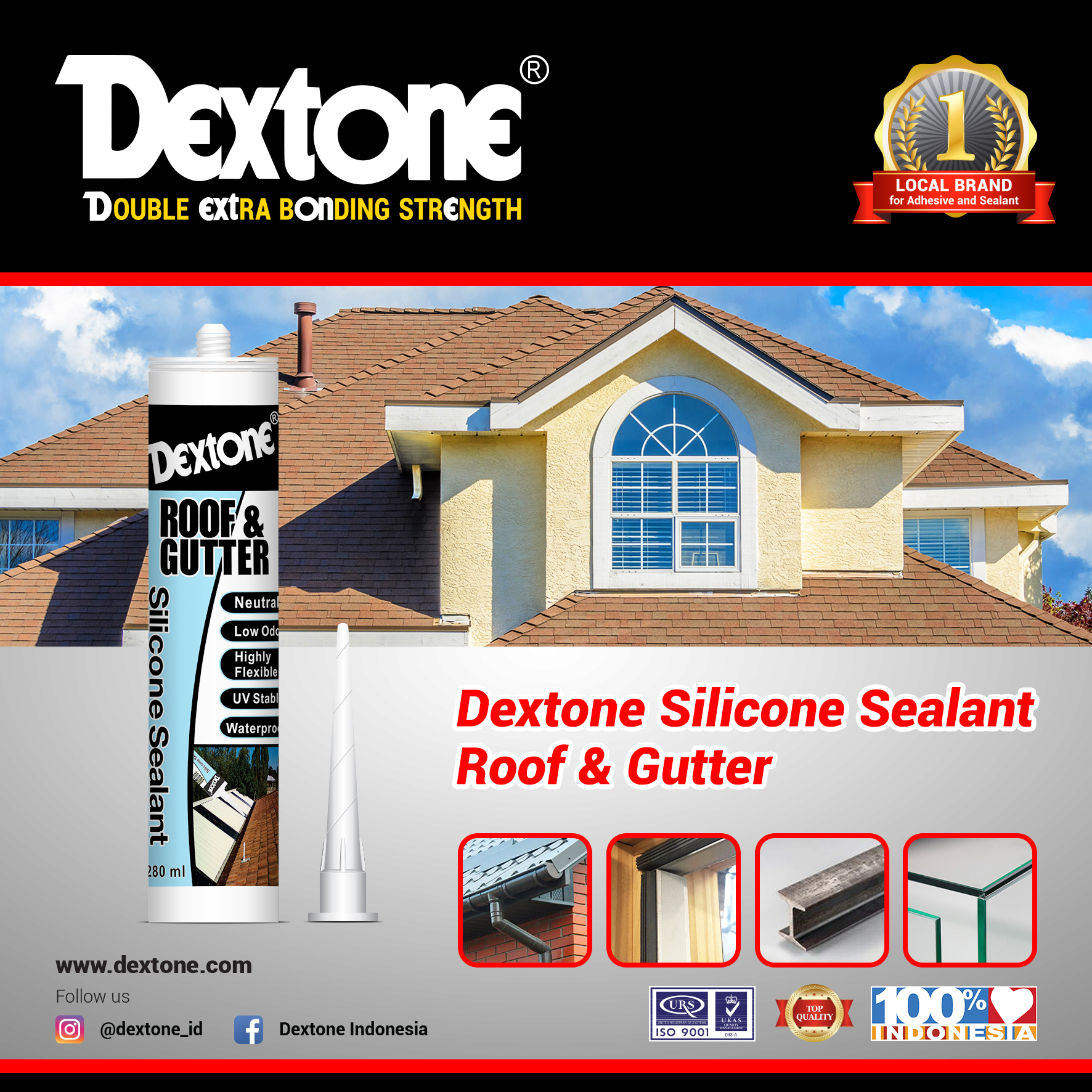 Dextone Silicone Sealant Roof and Gutter