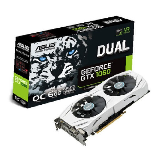 A-SUS NVIDIA GeForce GTX 1060 DUAL O.C. 6GB - Graphics Card + FREE GAME!
