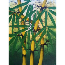 Home Decor Modern Canvas Bali Wall Art Decoration Abstract Bamboo Oil Painting