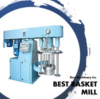 500L Basket Mill(Ring mill) with bead and tank for Nano grinding in chemical processing (made in SOUTH KOREA)