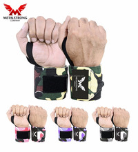 Camo Custom Printed Gym Wrist Wraps Workout Wrist Support Hand Wraps Crossfit Lifting Straps For Weightlifting Powerlifting