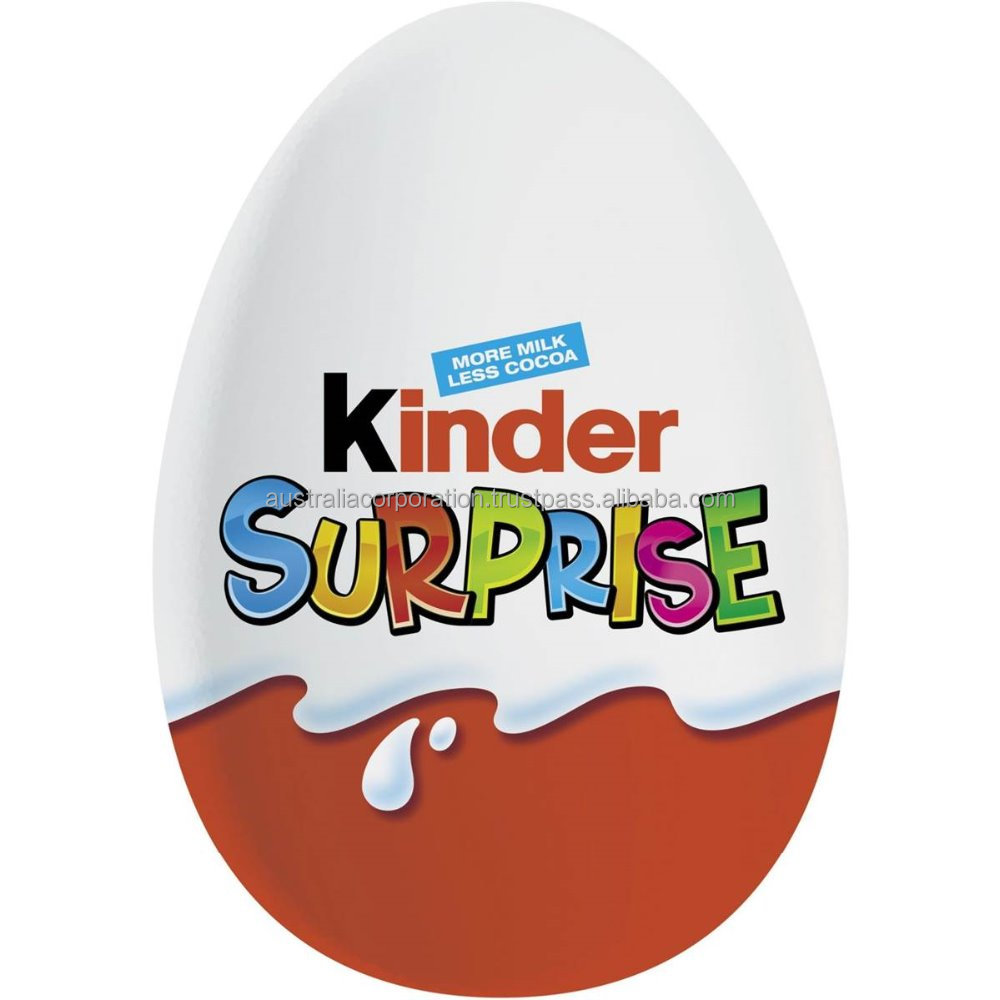 Kinder Surprise Chocolate Egg 20g with toy inside the egg