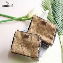 Make up bag Vegan Leather Cork Small Makeup Bag Cork Cosmetic Pouch makeup pouch zipper pouch bag cosmetic