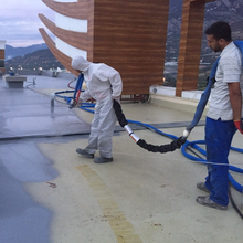Pure Polyurea-Based, Two-Component, Flexible, Fast Curing Waterproofing Membrane Applied Using Special Spray Equipment