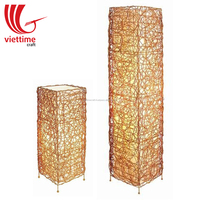 Rattan Standing Lamp, Indoor Floor Lamp decor wholesale made in Vietnam