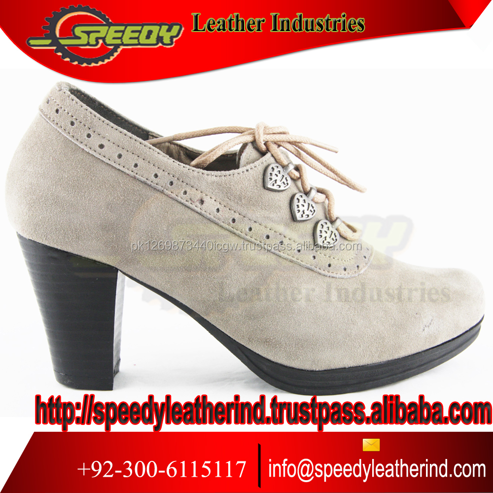 Grey shoes Trachten Oktoberfest Bavarian Traditional Ladies Shoes new