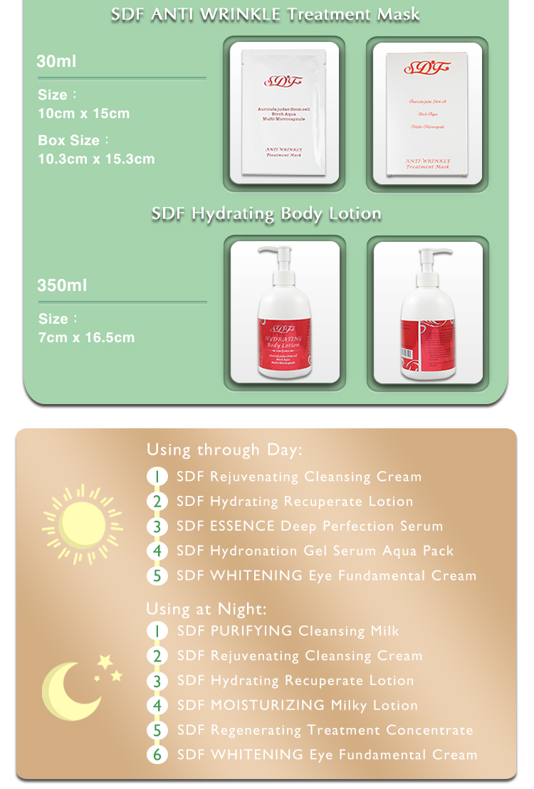 Acne cream and face mask whitening kit for private label skincare