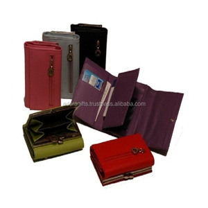 Ladies Leather Wallet With Change Purse/ Leather Wallet Ladies Multi color