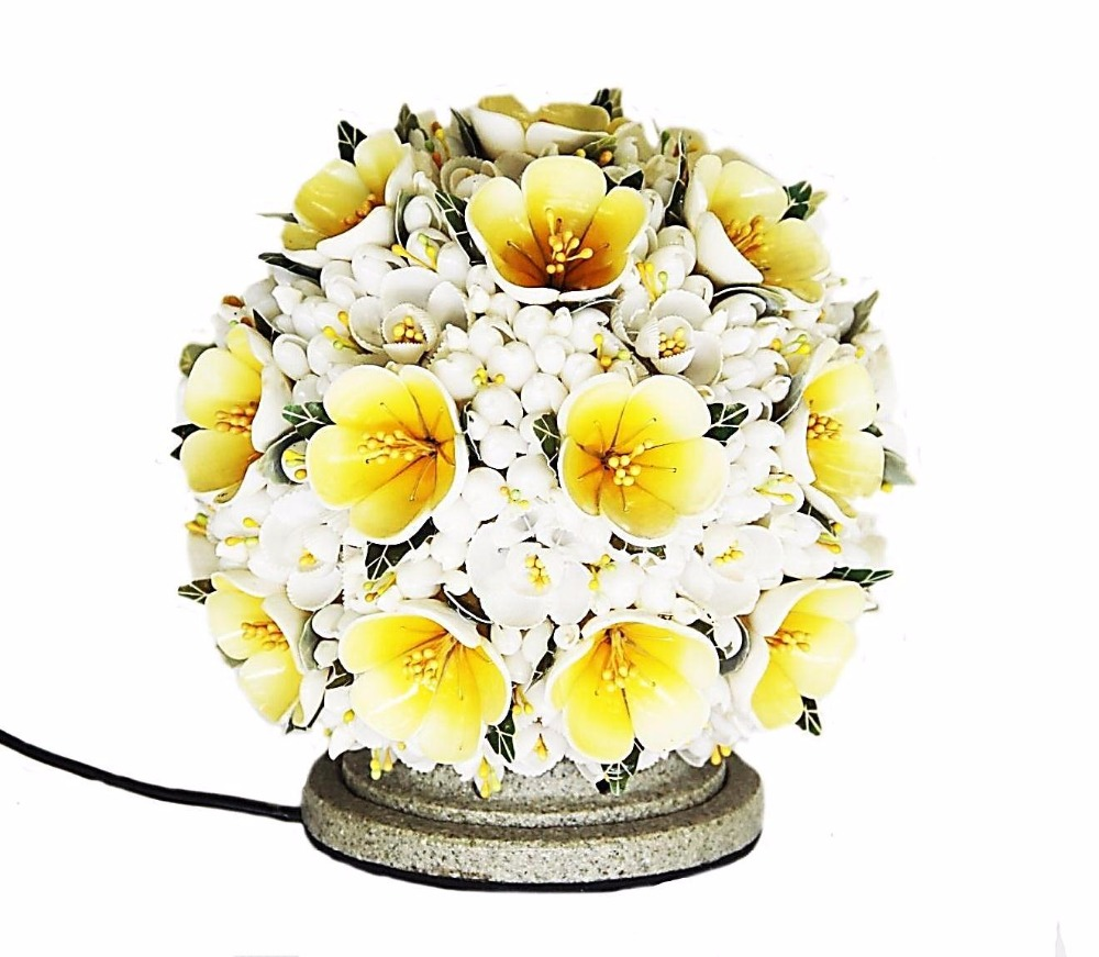 OB-010 (2) Shell Decorated Table Lamp Design