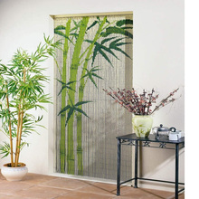 Cheap wholesale bamboo beaded door curtains/ HOT sale door curtain