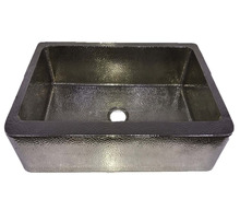 Nickel Plated High Quality Copper Farmhouse Kitchen Sink
