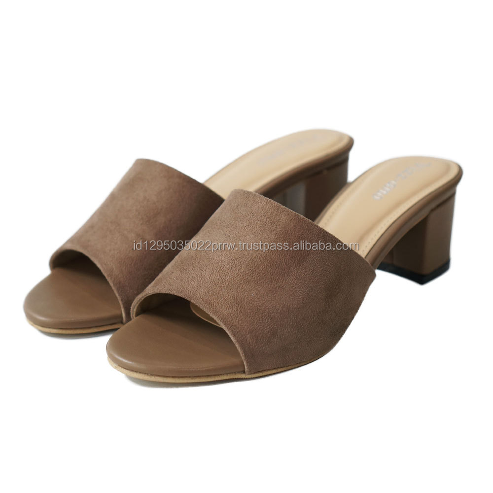 High Quality Women Work Heel Shoes With Comfortable PVC Sole
