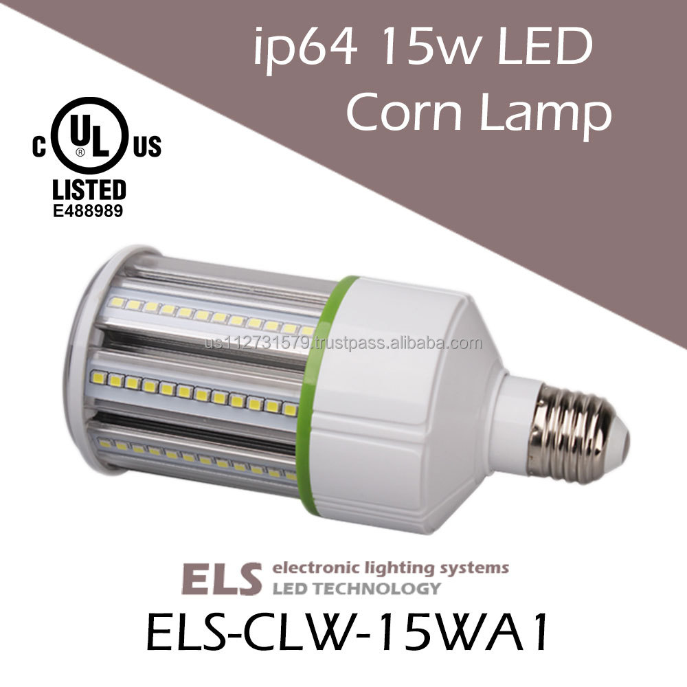LED Bollard Light 15 watt E26 base LED Corn Light Bulb UL CUL Listed