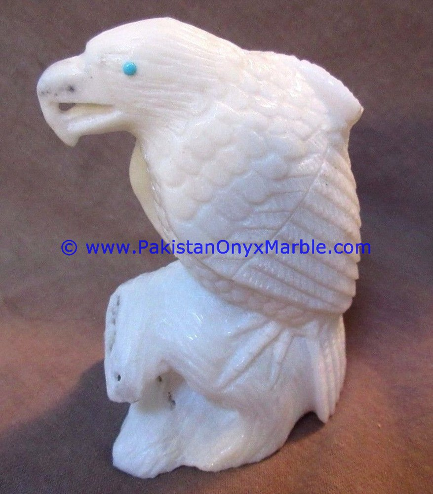 NEW MARBLE BIRDS EAGLE STATUE SCULPTURE FIGURINE HANDCARVED