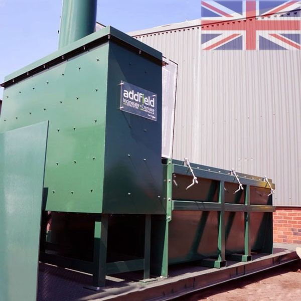Mobile Skid Mounted Incinerator from Addfield. Full sized portable incineration for a range of uses. Quality you can trust.