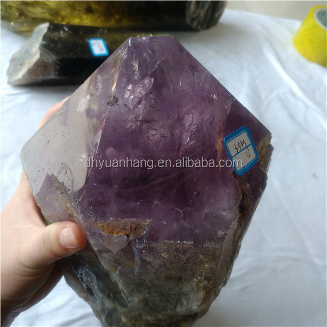 Natural amethyst quartz crystal raw stones crystal rough wand polished crystal points