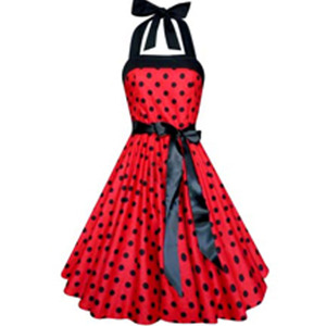 red color women's short frock new designs sleeveless rockabilly sexy dresses