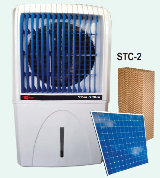 dc solar power evaporative cooling water air cooler STC-2