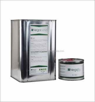 Fast drying, two-component screen adhesive for a highly chemical resistant for aluminium-, wood-, steel-, galvanized iron frames