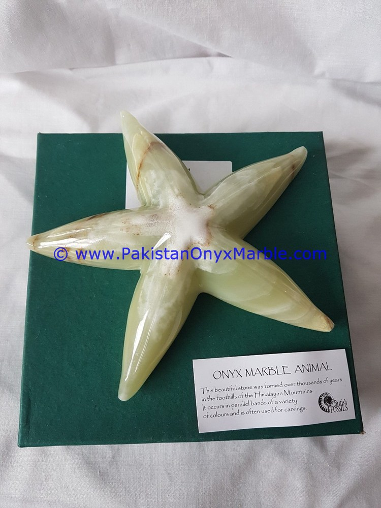 BEST PRICE ONYX STAR FISHES ONYX HAND CARVED STATUE SCULPTURE