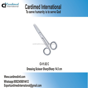 Dressing Operating Scissor Sharp/Sharp 14.5 cm / Surgical Instrument / Sialkot Pakistan