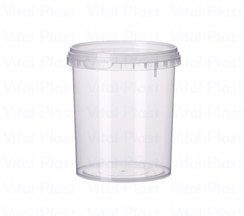 550 ml/0,146 Gallon Round Plastic Liquid Tight Container with Lid