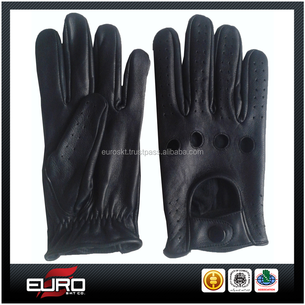 Classic Leather Gloves Mens Leather Car Driving Gloves