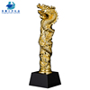 Popular Personalized Custom Dragon Shaped Crystal Resin Trophy With Base