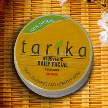 Pores cleaning Close open pores, reduce scars dark circles sunscreen Tarika anti-aging saffron face pack youthful glowing skin