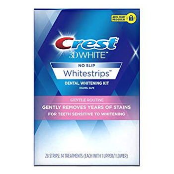 CREST 3D WHITE WHITESTRIPS GENTLE ROUTINE TEETH WHITENING KIT 1 box 14 Pouches Original Professional Oral Hygiene strips
