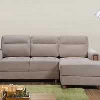 Wooden Leg Fabric Sofa Bed Home