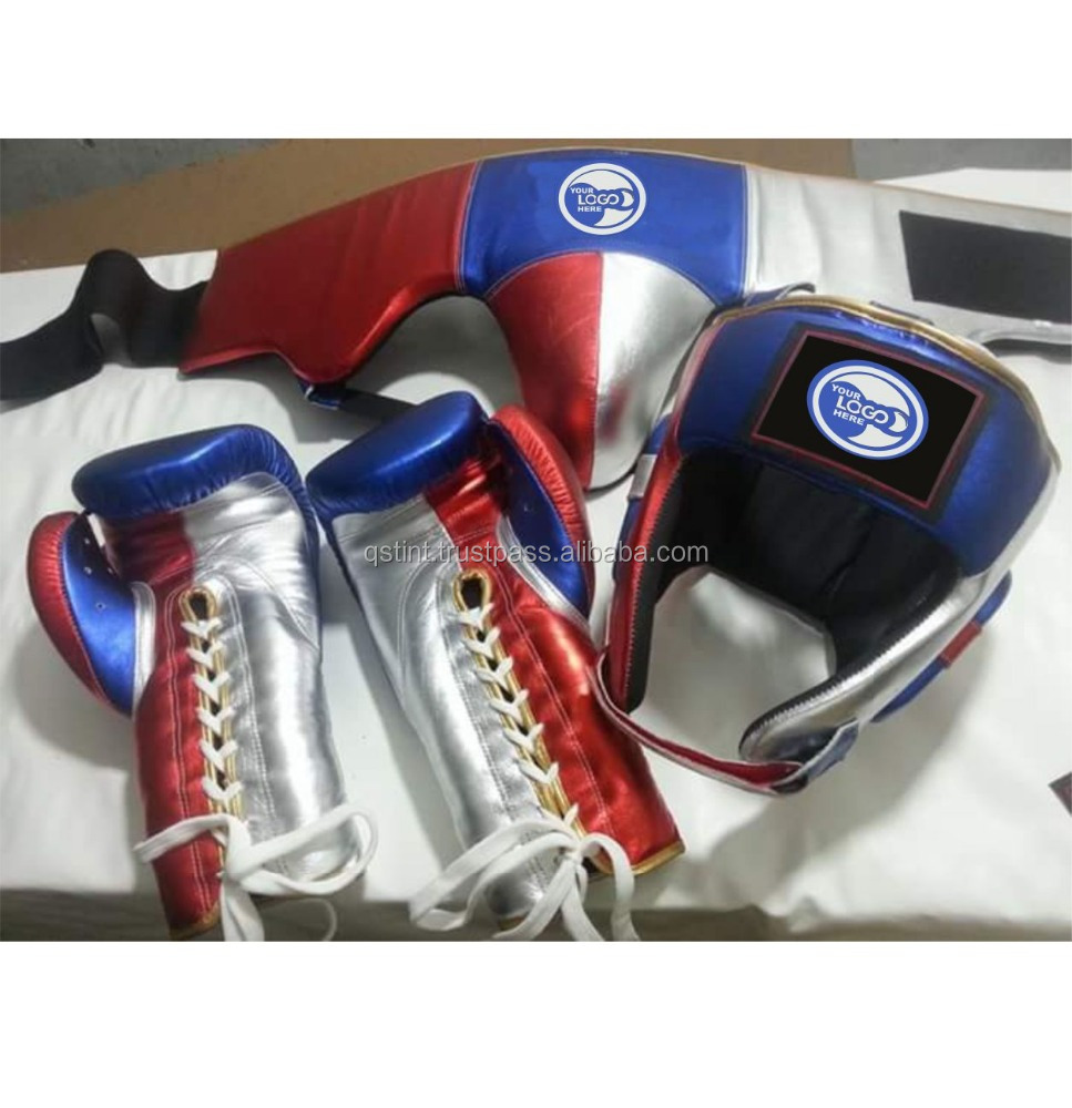 Cow Hide Leather Boxing Gloves Sparring Punching Glove