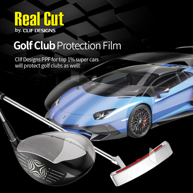 Golf Club Protection Film TPU paint protection film known as clear bra for car