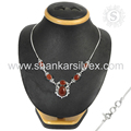 Ravishing red onyx gemstone necklace handmade silver jewelry 925 sterling silver wholesale exporter