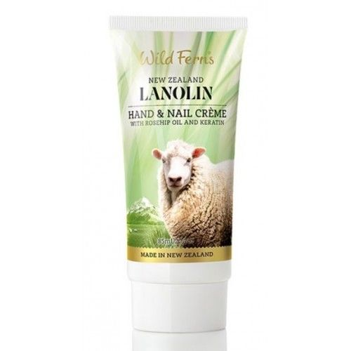 Wild Ferns Lanolin Hand and Nail Creme /Cream with Rosehip Oil and Keratin 85ml