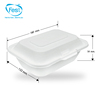 Disposable Natural Fiber Lunch Box for Takeaway Food 450 ml.