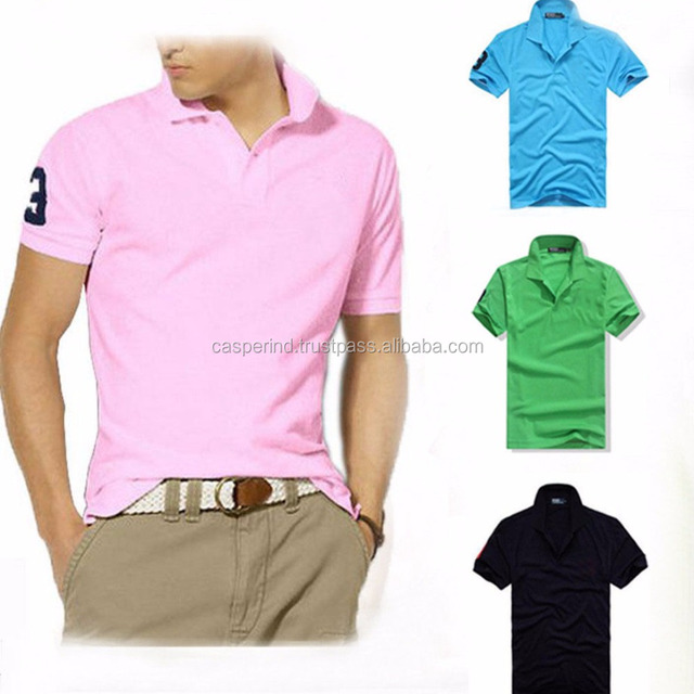 new style polo t-shirt custom polo t shirt men's cotton golf polo shirt t-shirts embroidery lacos te two color combination 2017