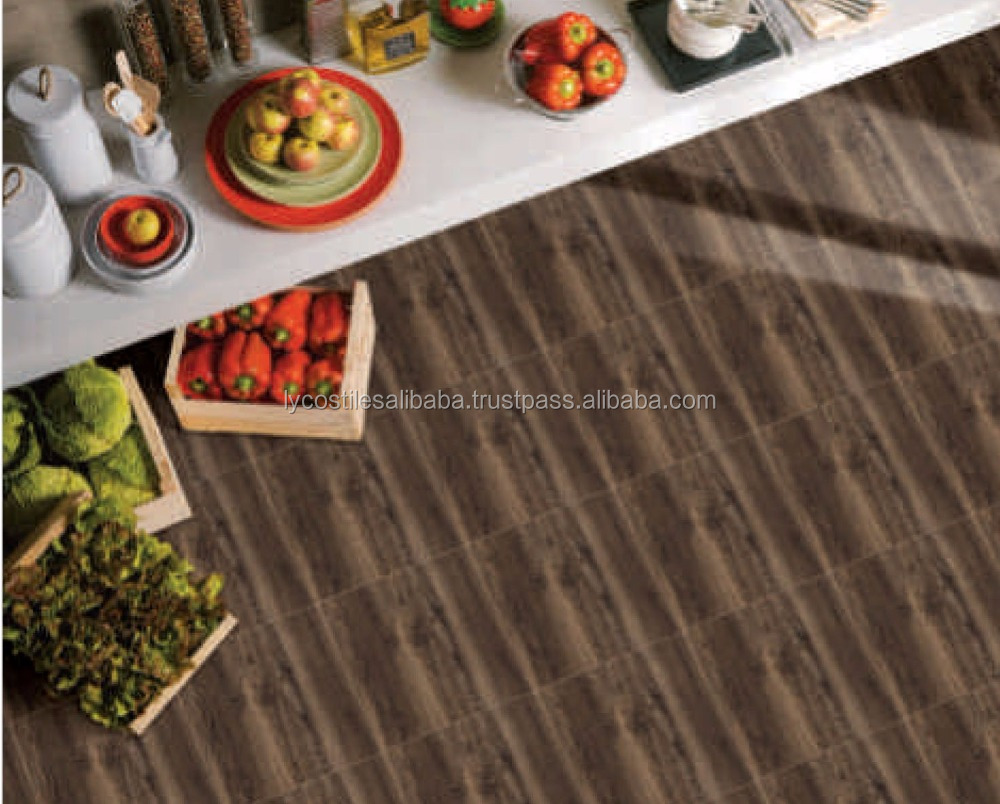 Wood like porcelain floor tiles from india 600x600, 600x1200mm yc01-(0274234124945)