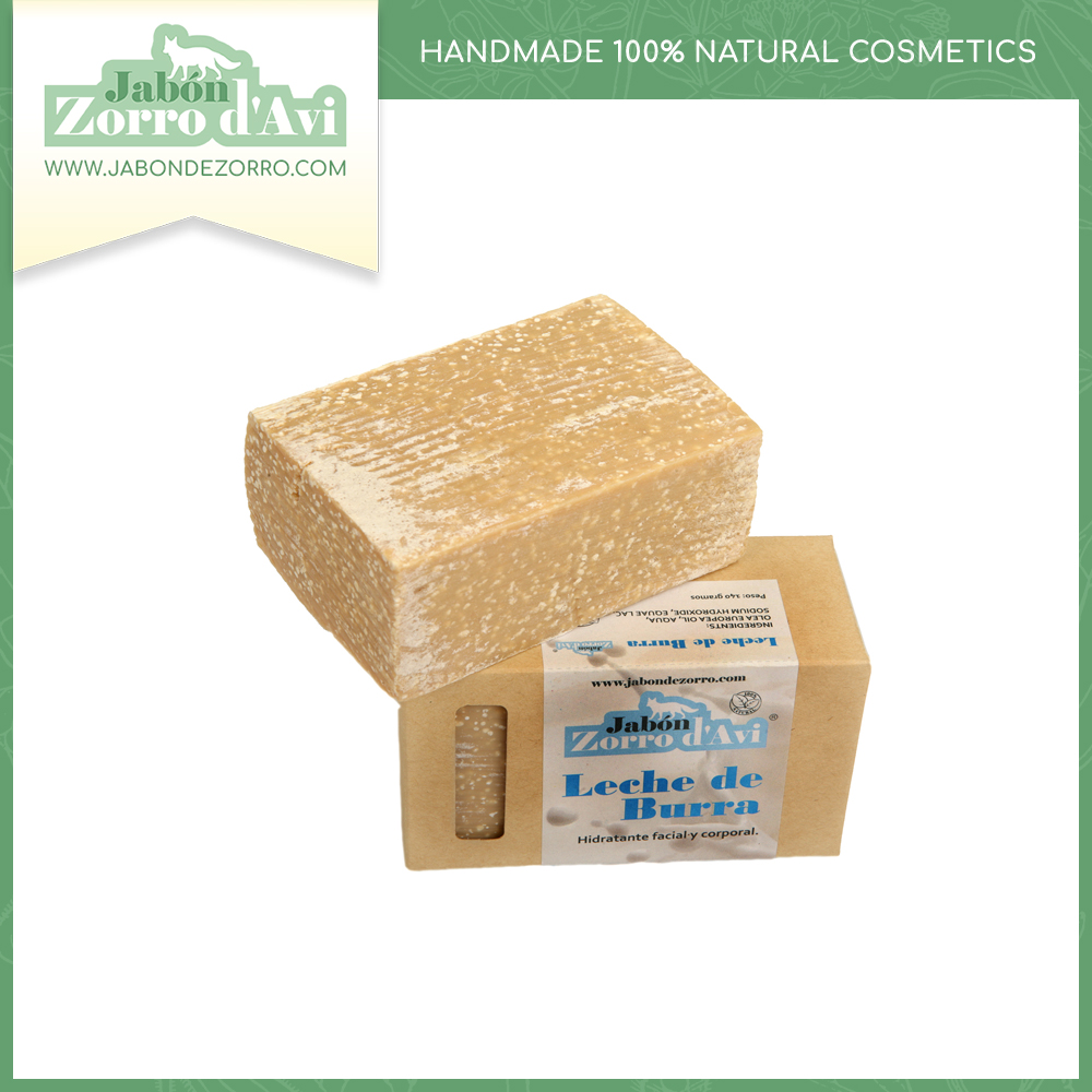 Donkey's milk soap (140g) - Daily cleanser, a make-up remover and a facial and body moisturizer.