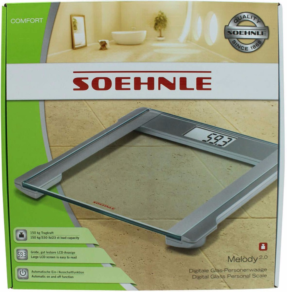 Soehnle Digitale Glass- Person scale till 150kg