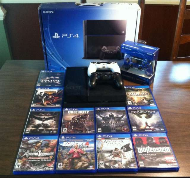 Free Shipping For Brand New PS4 , PS4 PRO , 500GB 1TB Console Bundle PS4 Pro