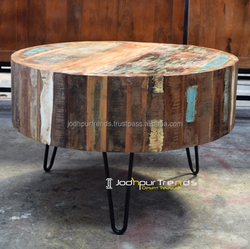 Vintage Industrial Coffee table Furniture Made Reclaimed Wood India