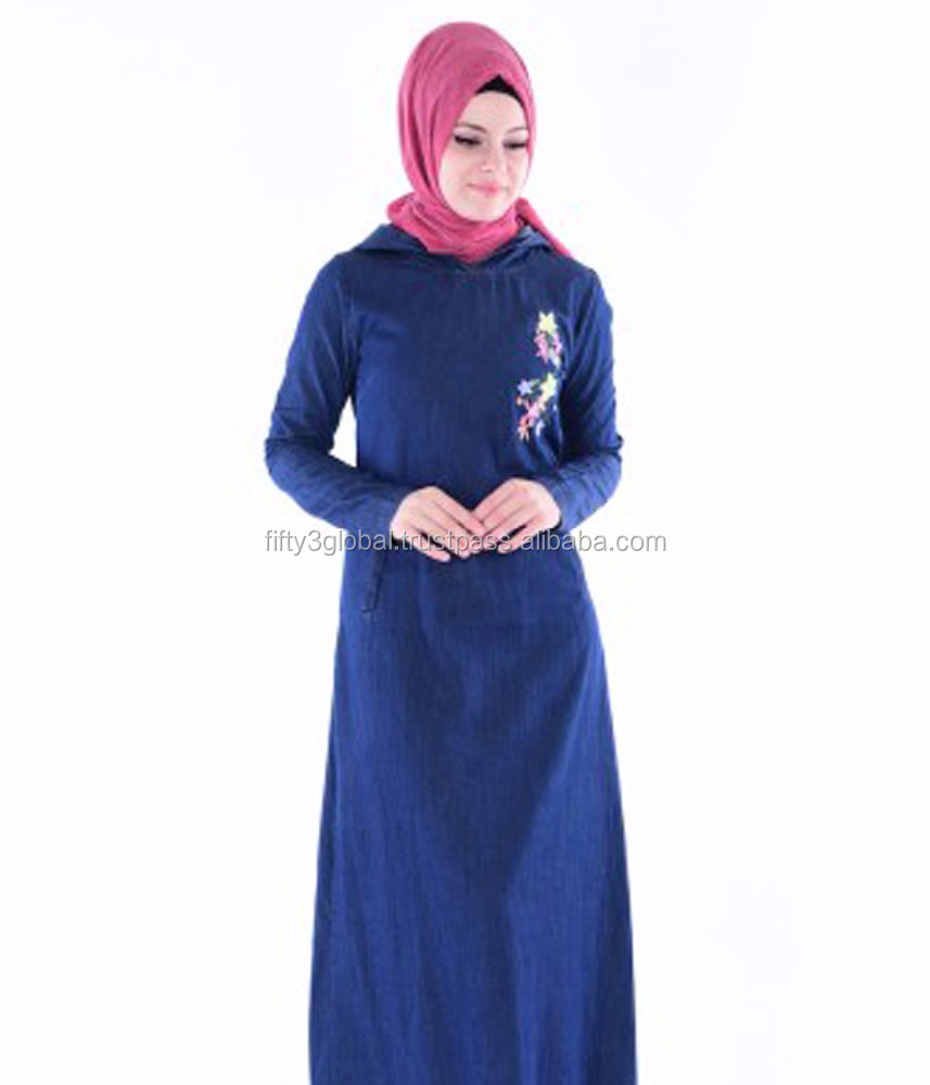 Navy Blue Abaya Latest Design With Hand Work