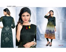 Indian Ethnic Fancy Designer new collection satin Kurti Tunic