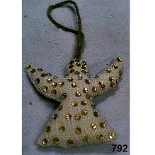 Jute & Glass Beads Angel Christmas Tree Ornaments & Decoration