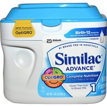 Similac Advance Infant Formula, with Iron, Milk Based, Powder, Stage 1 (Birth-12 Months) - 1.45 lb