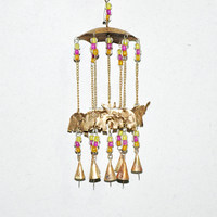 Feng Sui lucky 7 elephants wind chimes India garden wind chime favors